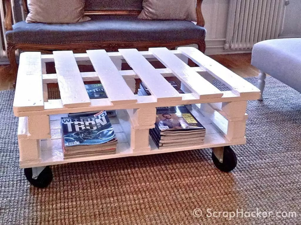 sofa table with wheels