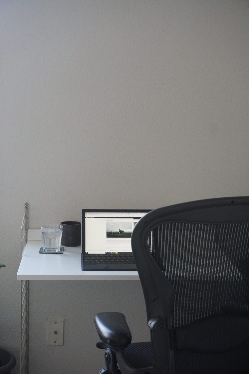 My Minimal Work From Home Desk