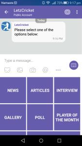 viber chatbot keyboard menu