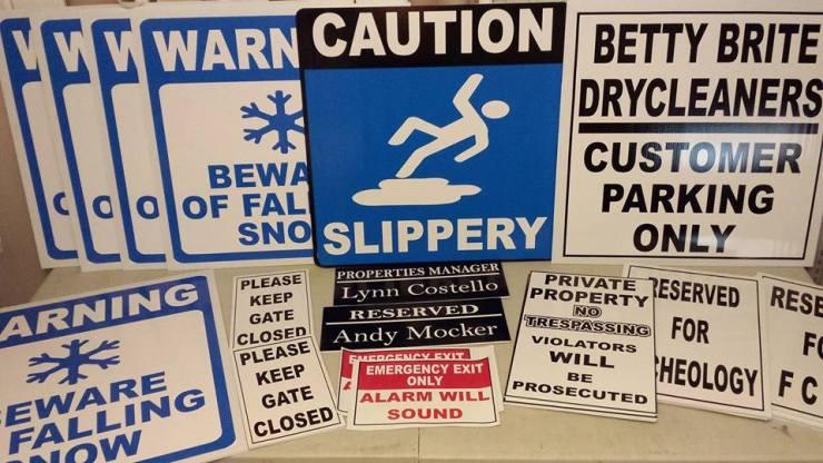 Caution Panel Signs