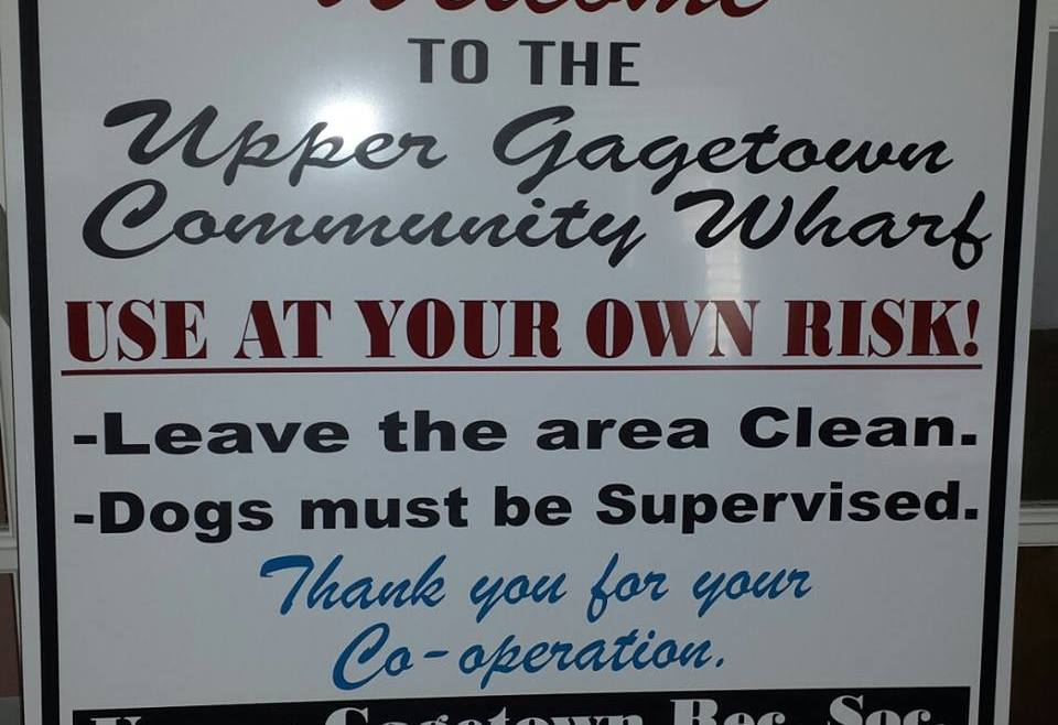 Gagetown Community Wharf Panel Sign