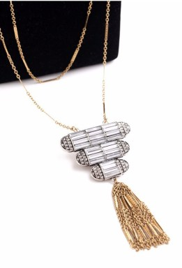 Art Deco Pyramid Necklace