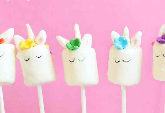 Unicorn Marshmallow Pops Step By Step Instructions With Video Included