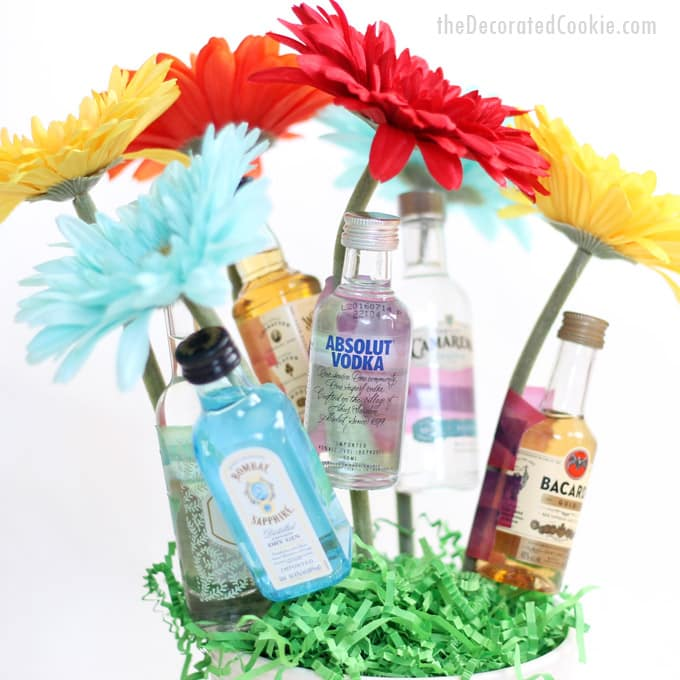 How to make a booze bouquet homemade gift idea