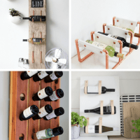A roundup of 24 awesome DIY wine racks -- home decor ideas