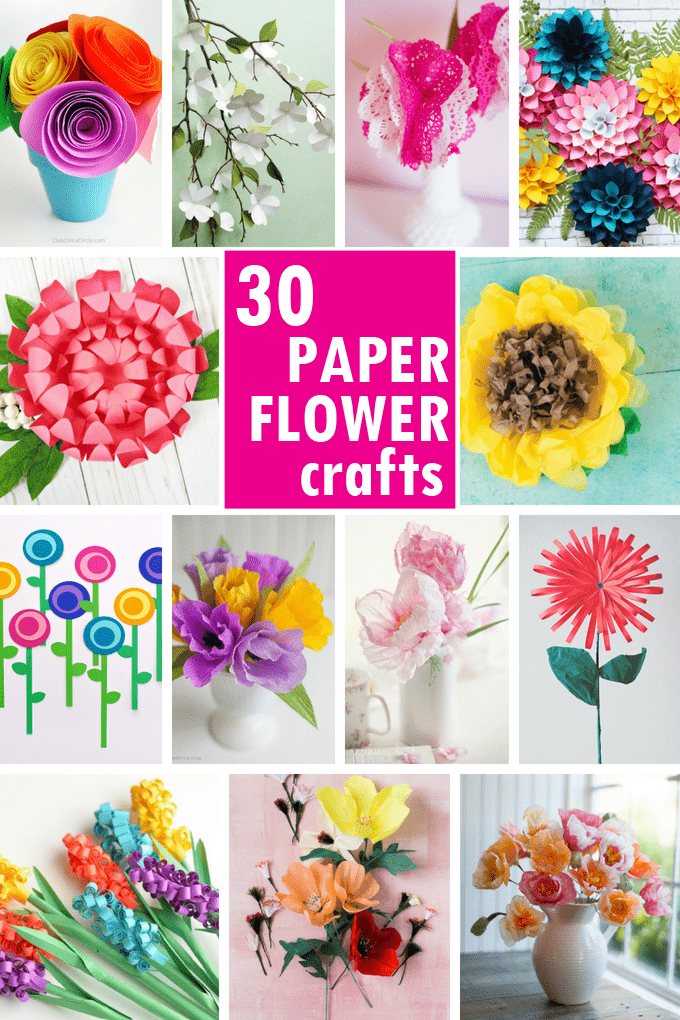 30 Of The Best PAPER FLOWER Tutorials The Decorated Cookie