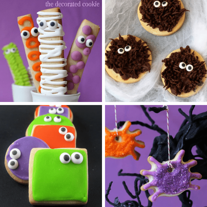Black and gold skull cookies. 30 Halloween Cookies Roundup Of The Best Cookie Decorating Ideas