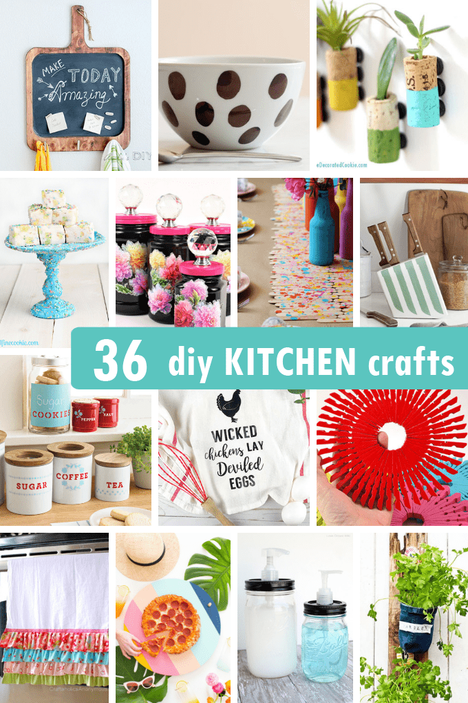 36 Awesome Diy Kitchen Crafts Projects For Your Kitchen