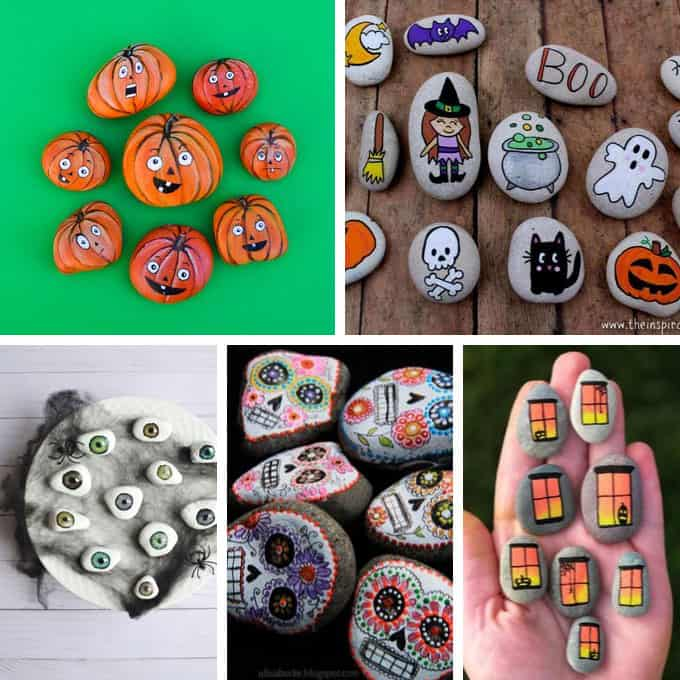 Inside, check out the best halloween face painting ideas adults will love. 15 Halloween Painted Rocks Fun Holiday Craft Ideas