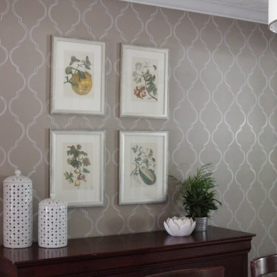 DIY: Stenciled Wall