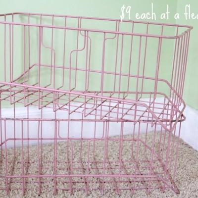 Repurposed Vintage Wire Baskets