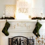 merry and bright mantel art