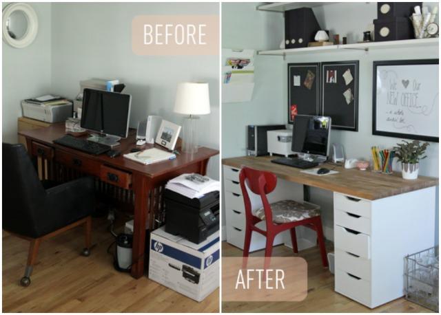 Our Ikea Office Makeover Decor Fix, Beech Desk Ikea