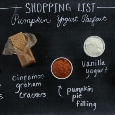Pumpkin Yogurt Parfait