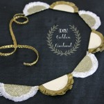 Golden Paper Garland