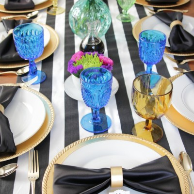 Black and Gold Bridal Brunch
