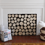 How to hide an ugly fireplace