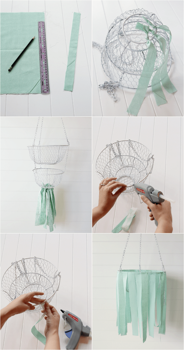 DIY fabric mobile