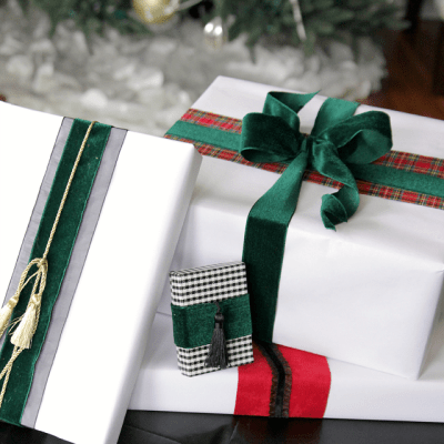 Tips for Wrapping a Gorgeous Gift & Plaid Gift Tag Printable