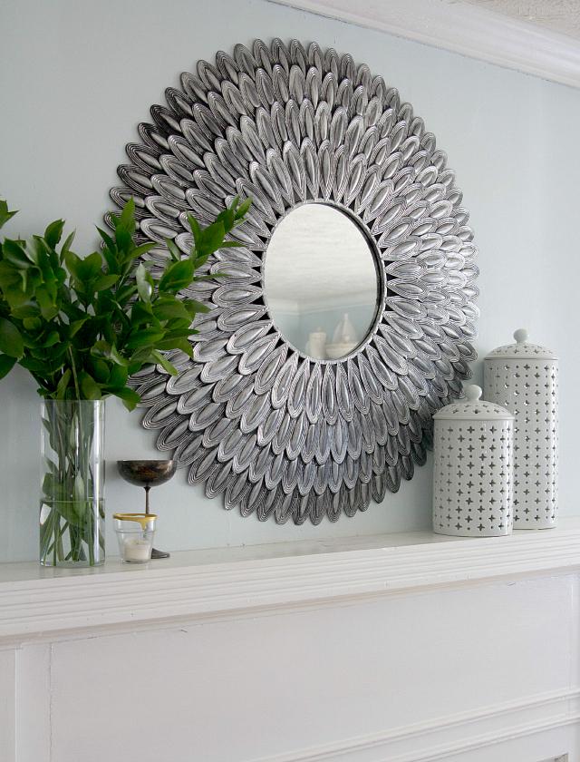 Mirror over mantel | Decor Fix