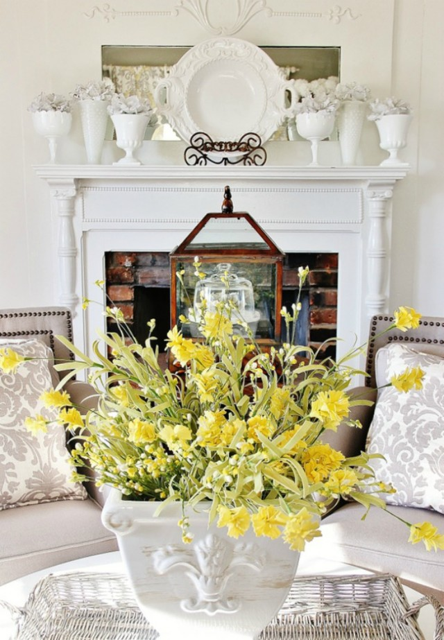 "Decor ""Quick Fix"": Use white dishes to decorate"