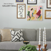 How to create a gallery wall (Lots of time-saving tips to get it right!)