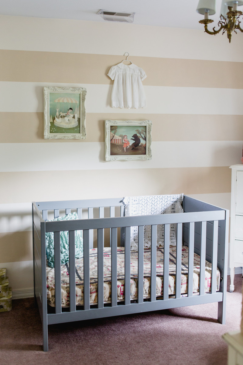 Precious Girl Nursery in a Small Space