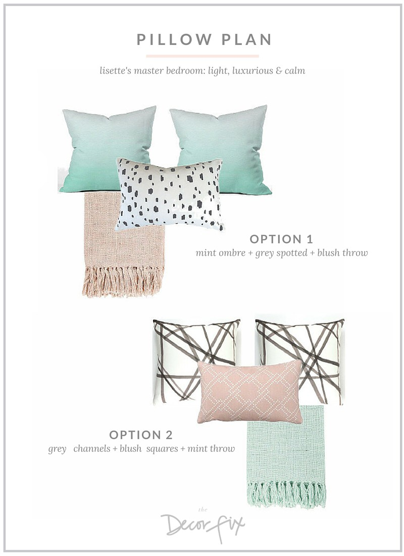 Pillow Plan for Master Bedroom |The Decor Fix