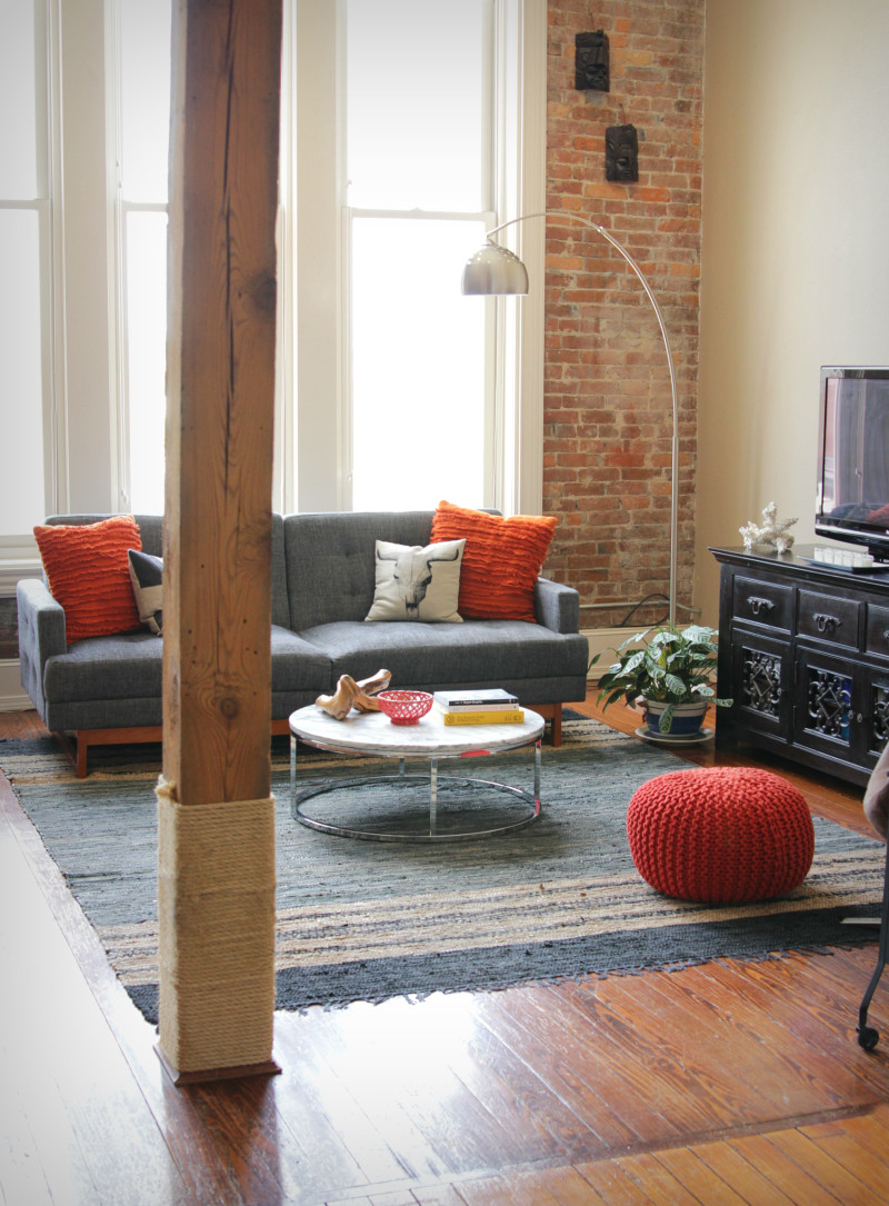Moody & masculine historic loft | The Decor Fix