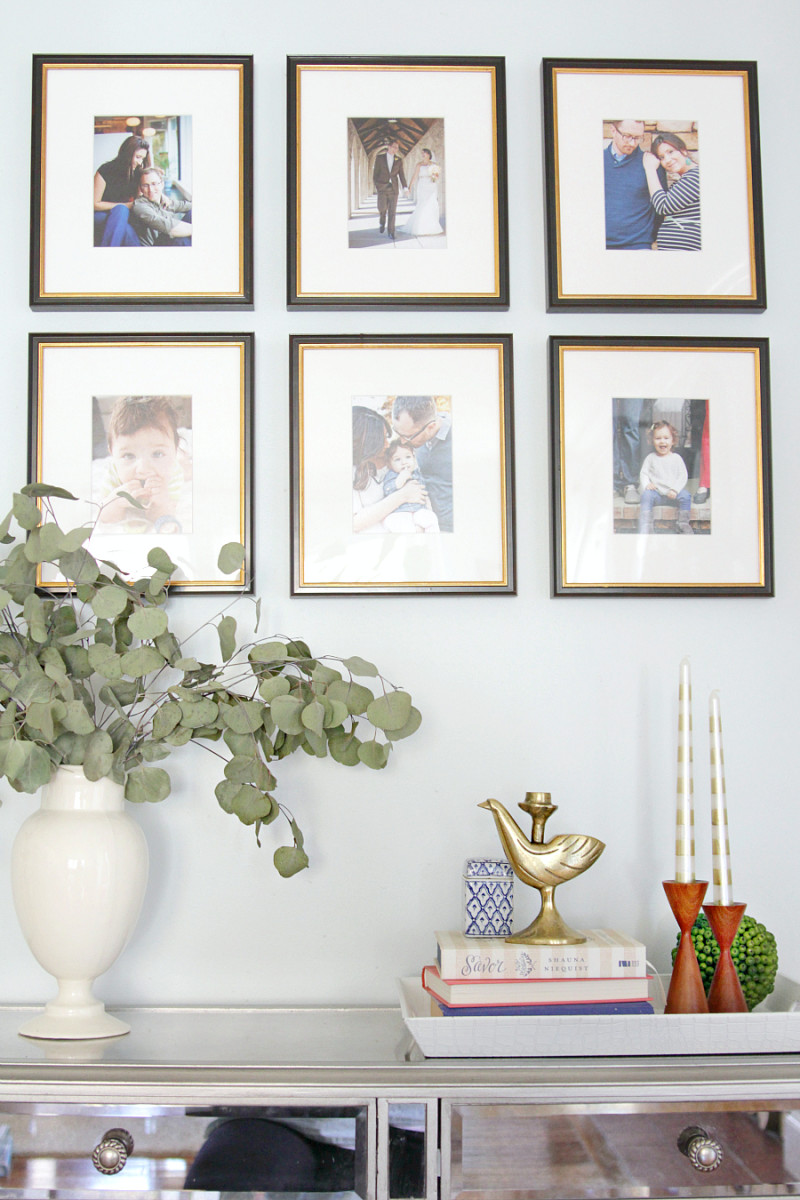 Family timeline gallery wall...a fun idea! |The Decor Fix