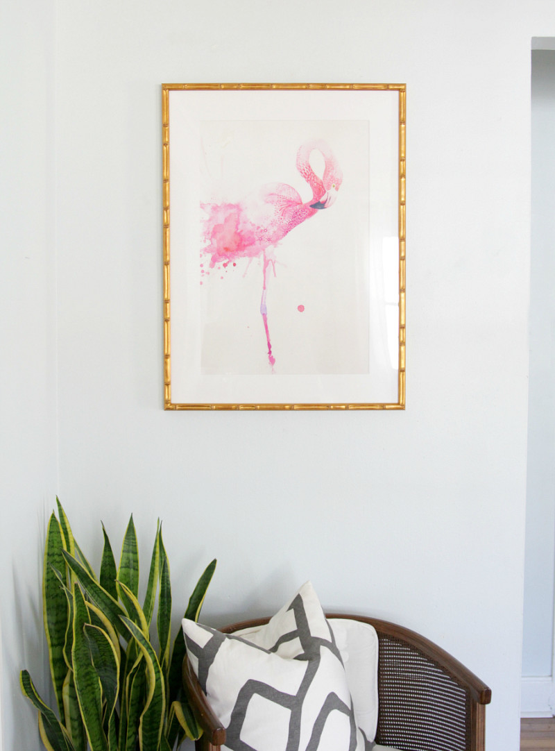 Flamingo art |The Decor Fix