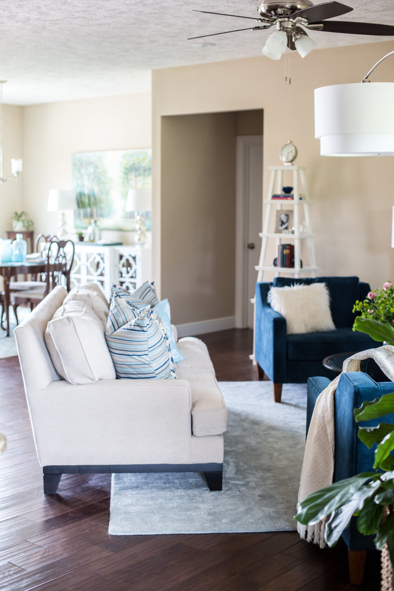 How to decorate a cohesive open concept space   The Decor Fix