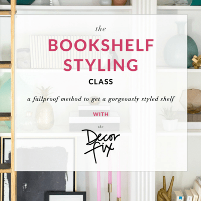 The Bookshelf Styling Class is Open!