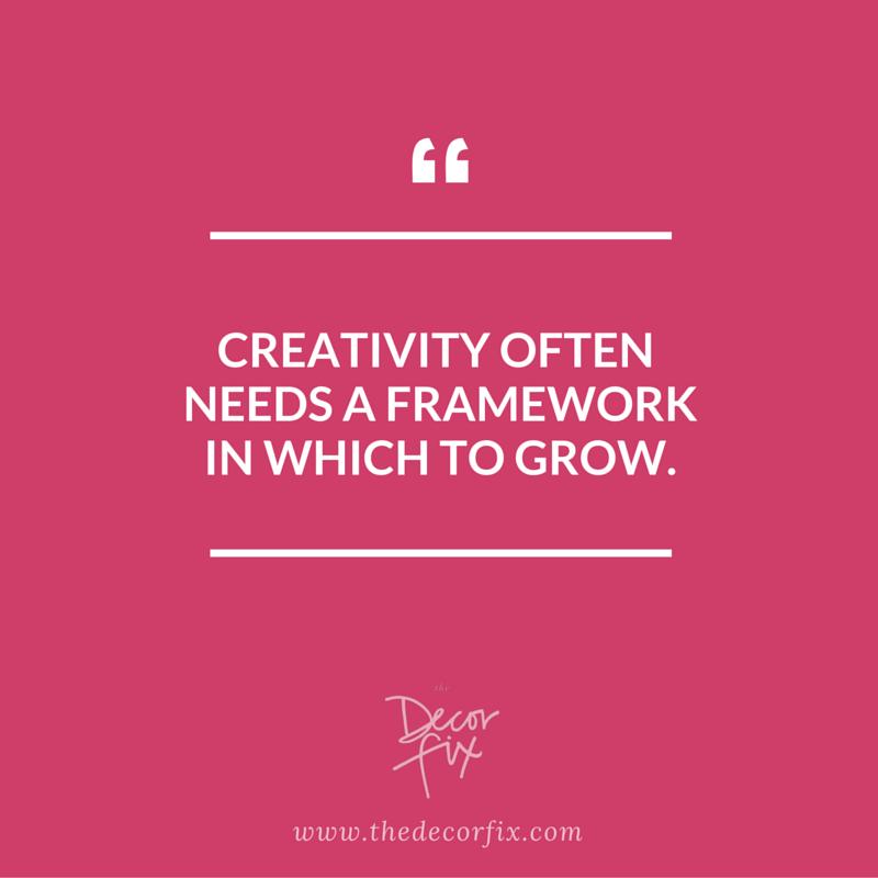 Creativity often needs a framework to grow. | The Decor Fix