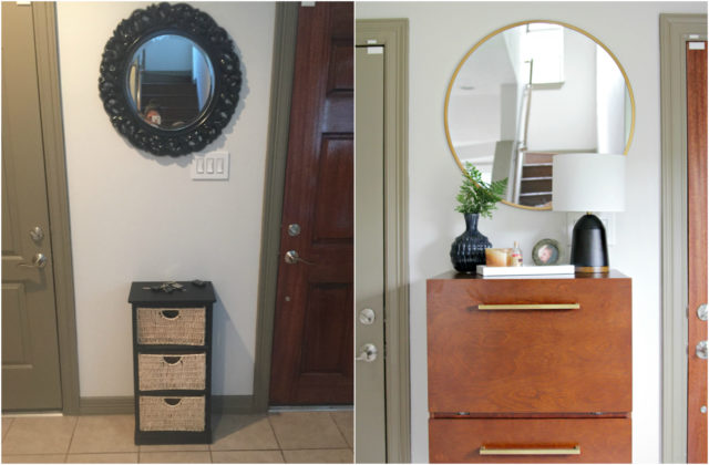 Houston Townhouse Entry Before and After
