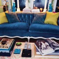 Fuschia Sofa Best Full Size Sleepers Peacock Blue - The Decorologist