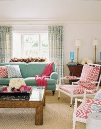 Another Example of Red + Turquoise - The Decorologist