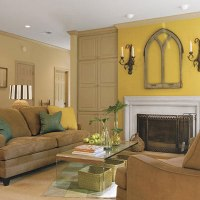Living Room Yellow Walls - home interior