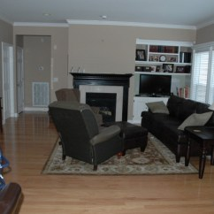 Living Room Fireplace Off Centered Furniture Oak Effect Get Your Arrangement In Balance The Decorologist Kilter Placement