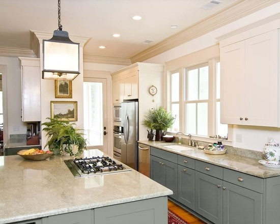 Can You Paint Kitchen Cabinets Two Colors In A Small Kitchen? The
