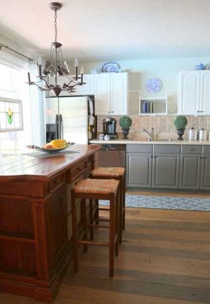 kitchen facelift aid ranges how two tone cabinets can update your - the ...