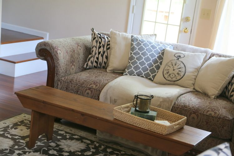 Updating a Dated Sofa  Home Staging Trick from The