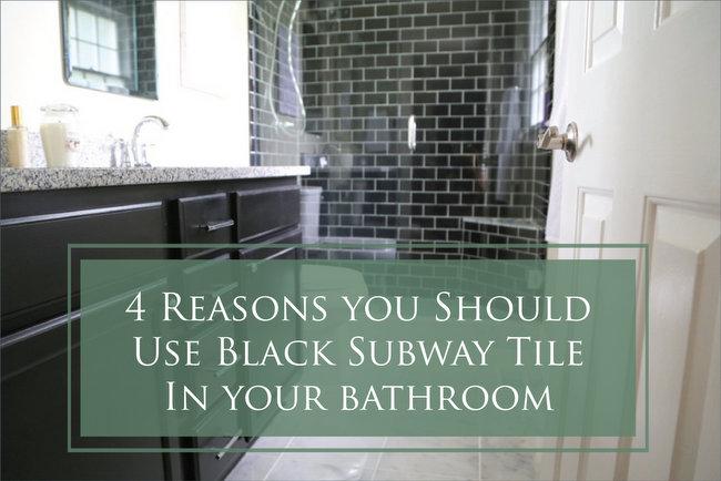 black subway tile in your bathroom