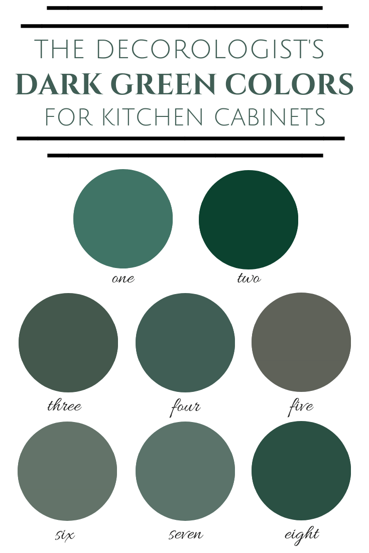 Best Emerald Green Paint Color : emerald, green, paint, color, Greens, Kitchen, Cabinets, Decorologist