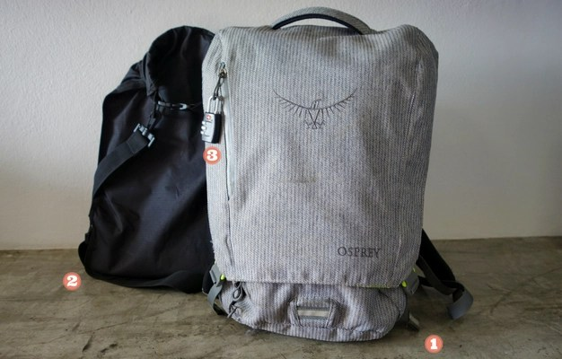 Minimalist Travel: 26L Osprey Pack and Drybag