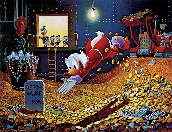 Scrooge knows a thing or two about stashing cash.
