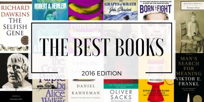 The best books - 2016 edition.