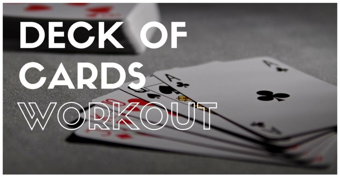 Portable travel gym: Introducing the deck of cards workout