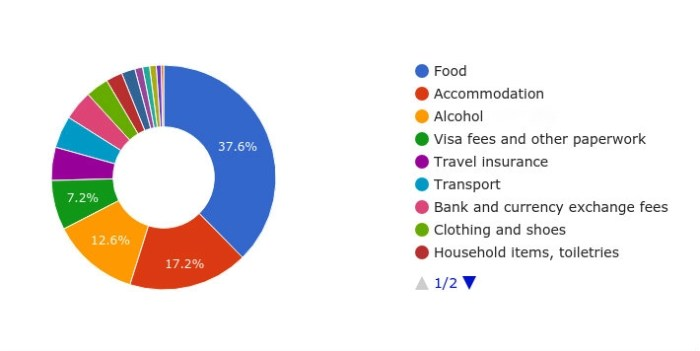 Cheap Chiang Mai: Cost of living pie chart