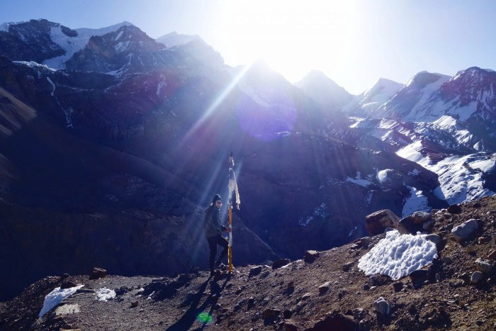 Hiking the highest pass in the world on the Annapurna Circuit in Nepal.